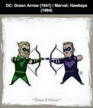Marvel vs DC - Hawkeye / Green palaso