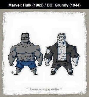 Marvel vs DC - Hulk / Grundy