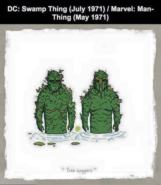 Marvel vs DC - Man-Thing / Swamp Thing
