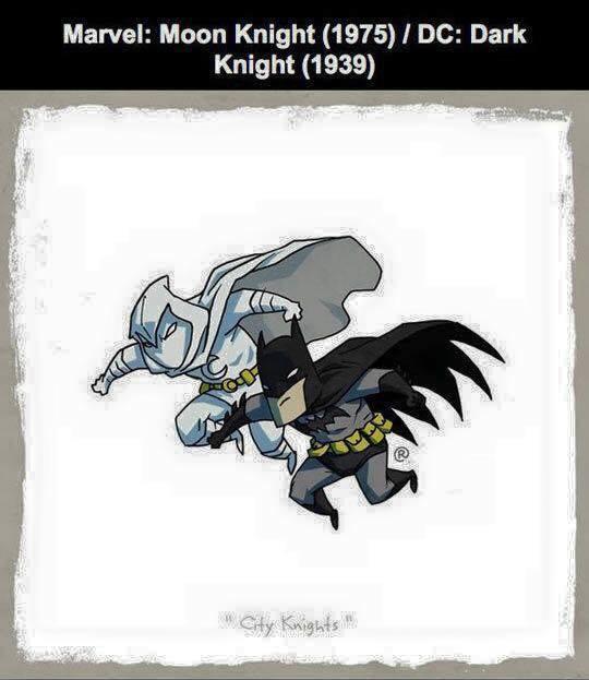 Marvel vs DC - Moon Knight / Dark Knight