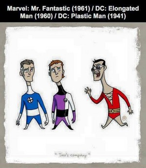 Marvel vs DC - Mr Fantastic / Elongated Man