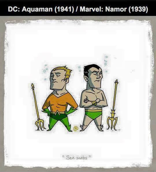 Marvel vs DC - Namor / Aquaman