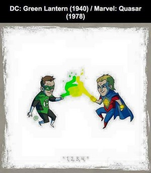 Marvel vs DC - Quasar / Green Lantern