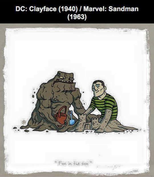 Marvel vs DC - Sandman / Clayface