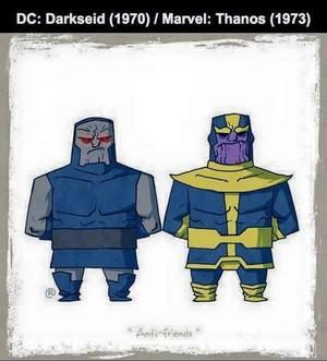 Marvel vs DC - Thanos / Darkseid