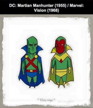 Marvel vs DC - Vision / Martian Manhunter