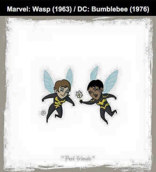 Marvel vs DC - Wasp / Bumblebee