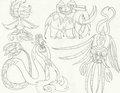 Mega Evolutions 1 - mariposa-region-rpg fan art