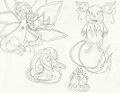 Mega Evolutions 2 - mariposa-region-rpg fan art