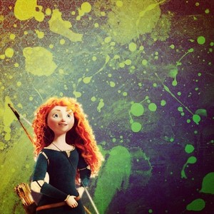 Merida Paint Splatter Background