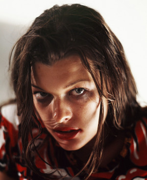 Milla Jovovich - Michael Tighe Photoshoot - 1992