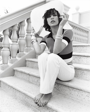 Milla Jovovich - Vogue UK Photoshoot - 2007