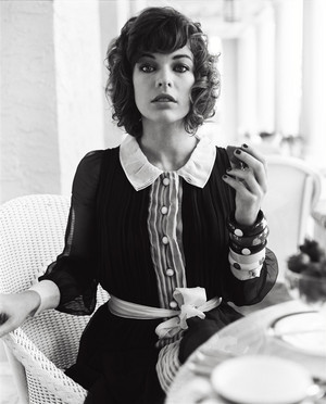 Milla Jovovich - Vogue UK Photoshoot - 2007