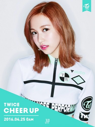 Twice (JYP Ent) वॉलपेपर with a portrait called Mina ''Cheer Up'' teaser pic