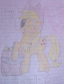 My second drawing of Applejack