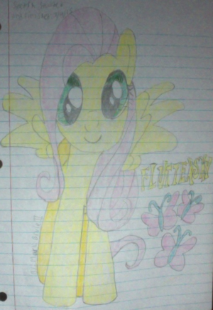 My second drawing of Fluttershy-colored version