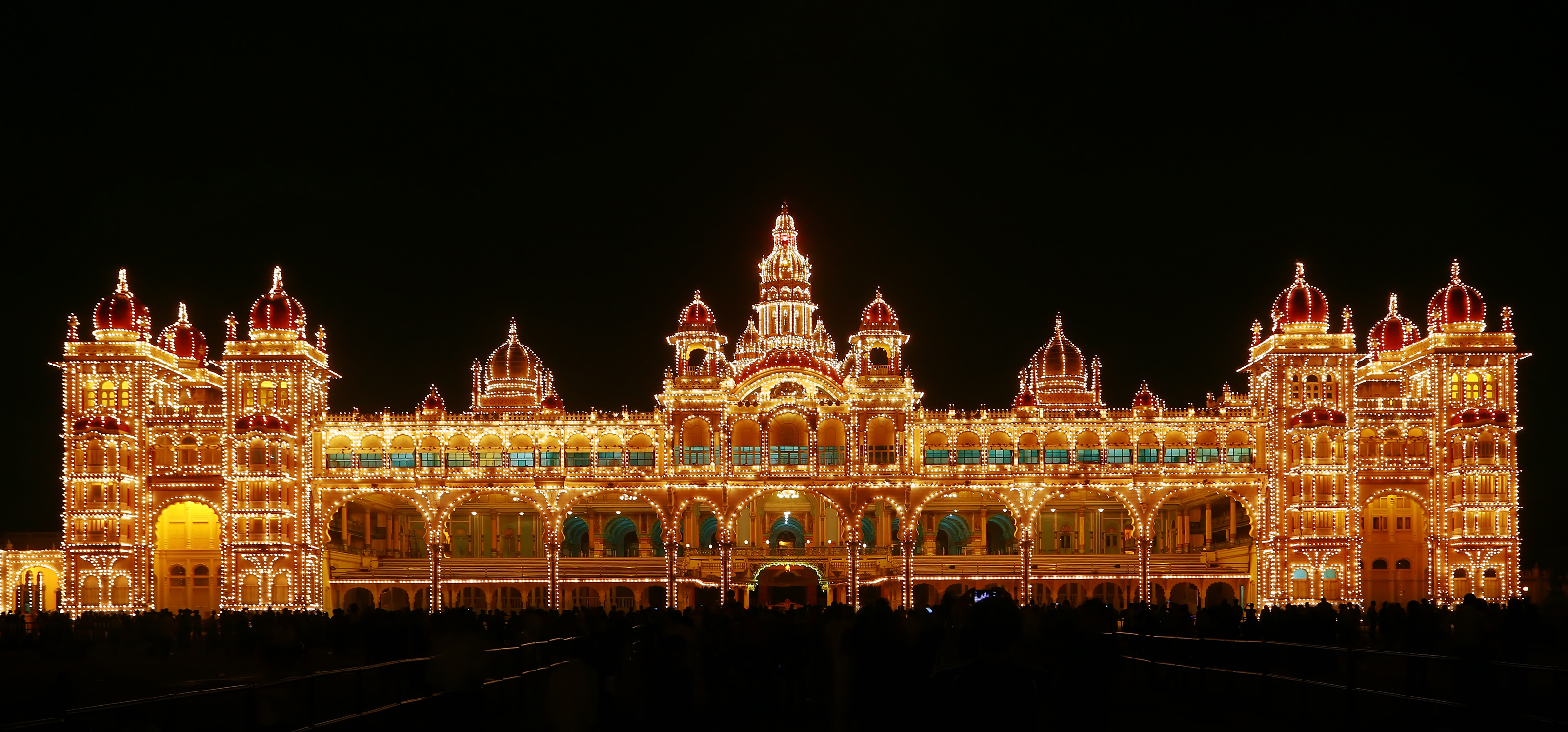 travel images mysore palace illuminated hd wallpaper and background