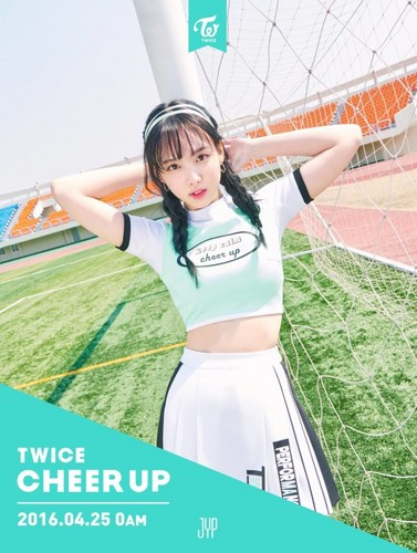 Twice (JYP Ent) hình nền possibly containing a portrait entitled Nayeon Cheer Up Teasers