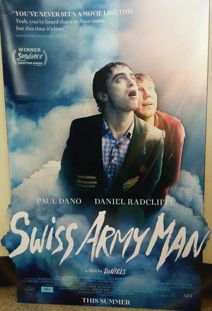 New Display of Swiss Army man for Alamo Kansas City (Fb.com/DanielJacobRadcliffeFanClub)