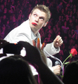 Nick Carter eating a rose - the-backstreet-boys photo