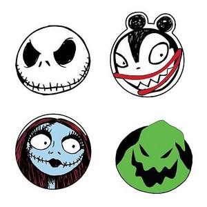 Nightmare Before クリスマス Character Head Coaster 4 Pack 190841167