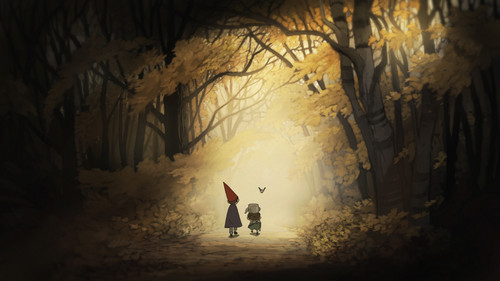 Over The Garden mural wallpaper possibly containing a rua called OTGW