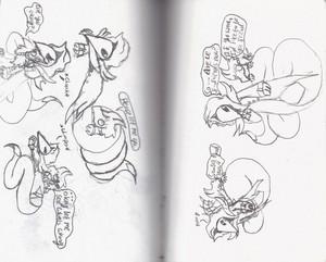 Old Schlange doodles - I just found them yesterday,