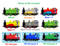 Oliver And His Liveries - thomas-the-tank-engine fan art