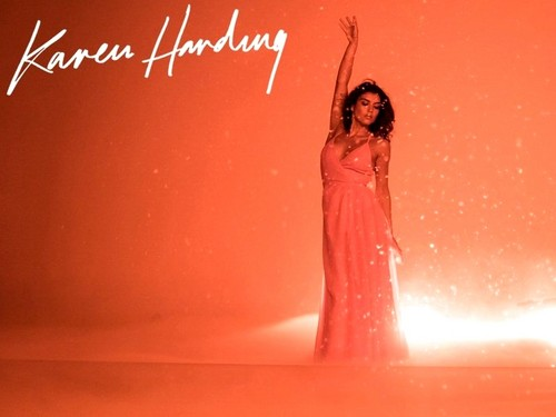 Karen Harding Hintergrund probably containing a abendessen dress and a cocktail dress titled Open My Eyes