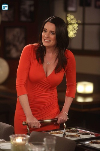 Paget Brewster wallpaper probably with a brasserie, a holiday dinner, and a turntable entitled Paget Brewster on Grandfathered