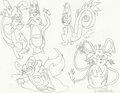Pikachu Clone Evolutions - mariposa-region-rpg fan art