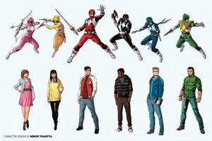Power rangers Morphed and unmorphed (or casual)