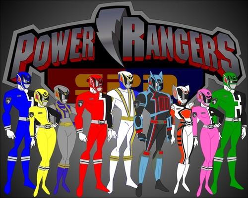 The Power Rangers karatasi la kupamba ukuta called Power rangers SPD