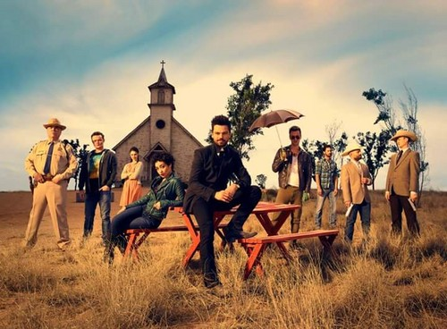 Preacher (AMC) wallpaper probably containing a chuck wagon, a horse wrangler, and a horse trail titled Preacher