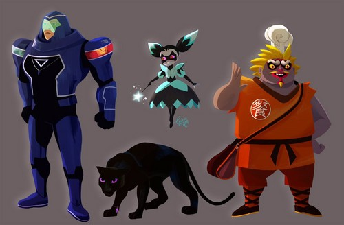 Miraculous Ladybug Hintergrund entitled Rogercop, the Puppeteer, Animan and Kung Essen