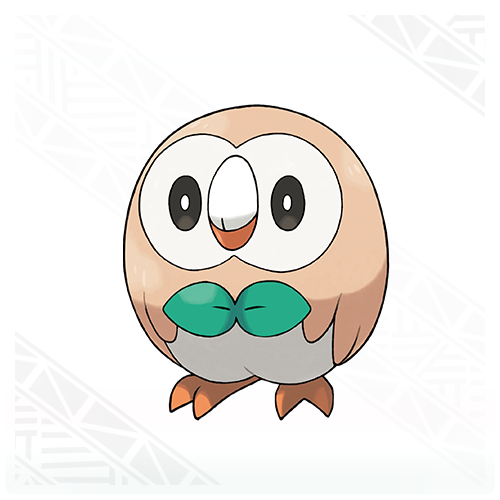 Pokémon wallpaper possibly with a venn diagram titled Rowlet