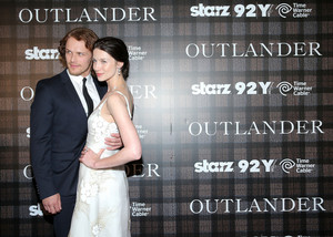 Sam Heughan and Caitriona Balfe at Outlander Premiere