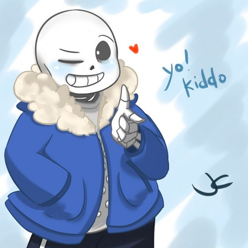 undertale वॉलपेपर possibly containing ऐनीमे entitled Sans the Skeleton