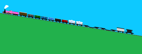Thomas The Tank Engine Wallpaper Titled Shiori Slipping Uphill