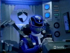 Sky Morphed As The SPD Blue Ranger