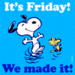 Snoopy - It's Friday! - snoopy icon