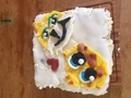 Stampycat and Sqaishey cake - stampylongnose fan art