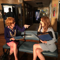 Stana and Susan-BTS season 8 - nathan-fillion-and-stana-katic photo