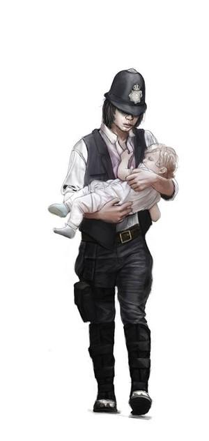 Steampunk Carl and Judith