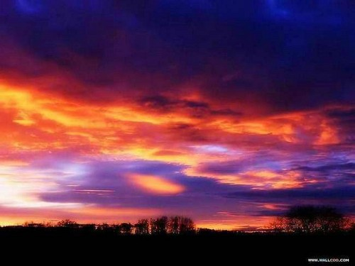 Sunsets and Sunrises wallpaper containing a sunset and a nube, nuvola called Sunset
