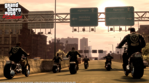 Grand Theft Auto IV The lost And Damned wallpaper containing a jalan, street and a motorcycle cop titled TLAD 4