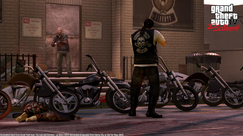 Grand Theft Auto IV The lost And Damned fondo de pantalla probably with a motorcycle cop, a moped, and a motociclista titled TLAD 7