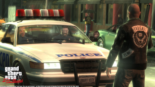 Grand Theft Auto IV The Lost And Damned Hintergrund probably containing a kreuzer called TLAD 87