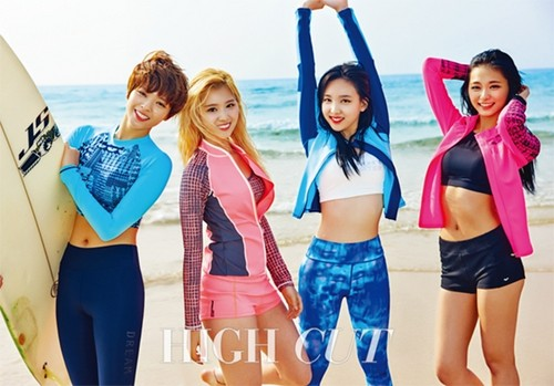 Twice (JYP Ent) वॉलपेपर possibly containing a bikini and a portrait titled TWICE For High Cut