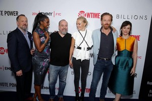 The Cast of Billions at Shwtime Emmy FYC red carpet in LA.